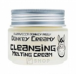 Очищающий крем с молоком ослиц Elizavecca Donkey Piggy Donkey Creamy Cleansing Melting Cream 100мл